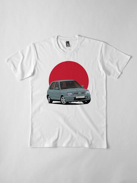 Nissan Micra ja Japanin aurinko -paidat