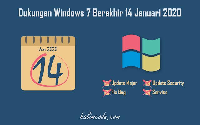 Dukungan Windows 7 Berakhir 14 Januari 2020