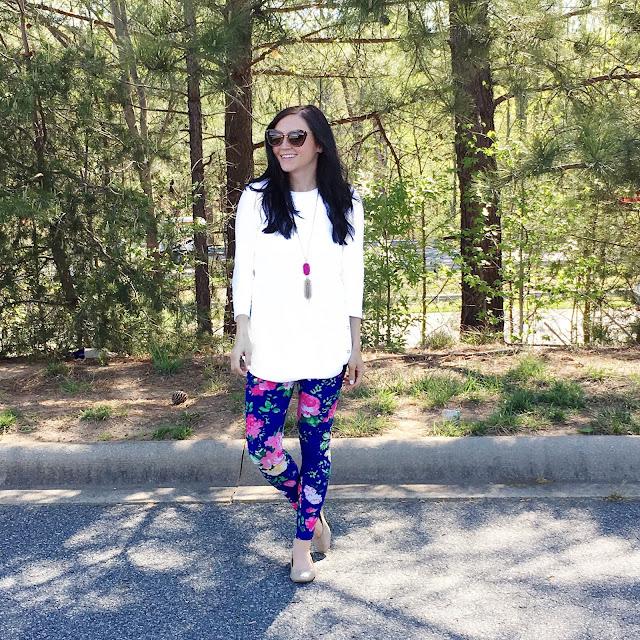 Floral leggings,