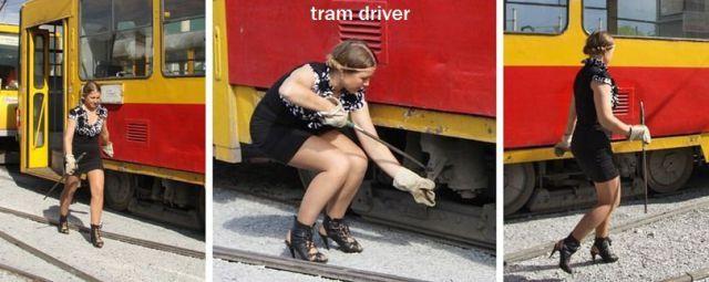Imagen divertida con automoviles