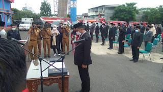 Walikota Jambi Syarif Fasha Lantik 140 Pejabat di Lapangan Mako Damkar, Ini Harapnya!