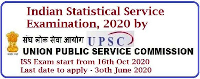 UPSC Indian Statistical Service Examination 2020