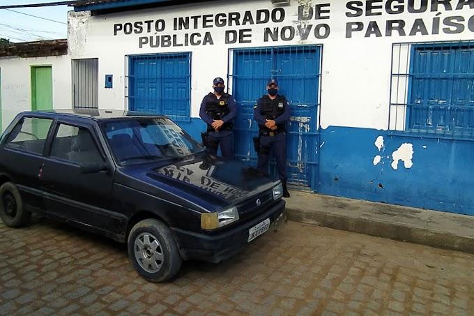 Guarda Civil Municipal encontra veículo com restrição de furto em Novo Paraíso