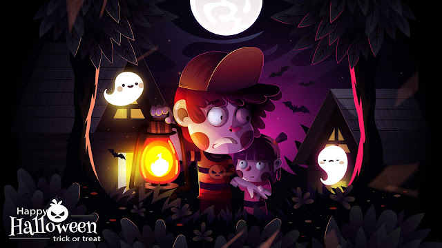 Halloween cute desktop wallpaper