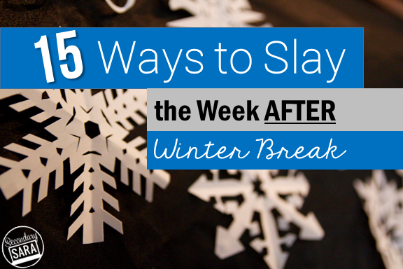 "Returning to school from any break is hard, but returning from winter break is especially hard because of the cold, dreary weather and shorter daylight hours. I'm sharing 15 ideas for what my father calls ""look-forward-to"" activities - things you can do to treat yourself, plan ahead, be proactive, and have a smooth return from winter break. Additionally, I've included a free download of a New Years resource!"