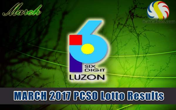 Results: March 2017 6-Digit PCSO Lotto