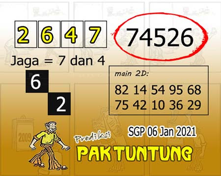 Prediksi Pak Tuntung SGP Rabu 06 Januari 2021