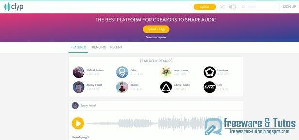 Clyp.it : un service web pour partager facilement des fichiers audio