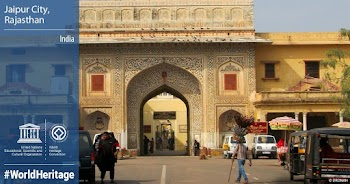 UNESCO inscribed Jaipur City in Rajasthan,  as WorldHeritage Site today