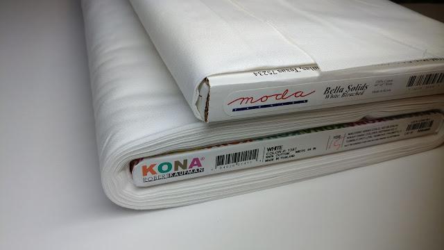 Different white fabrics