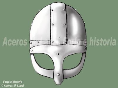 casco vikingo ilustracion
