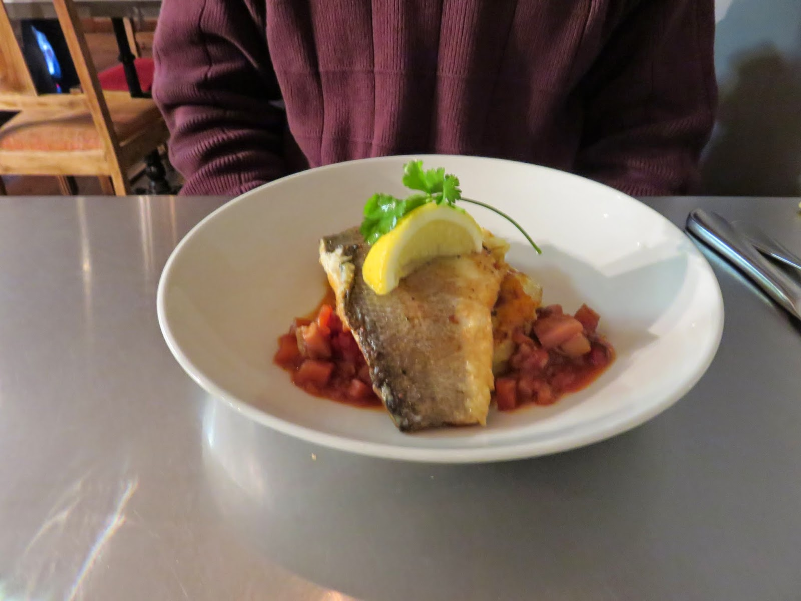 pan fried fish at Peperina Garden Bistro in Dublin