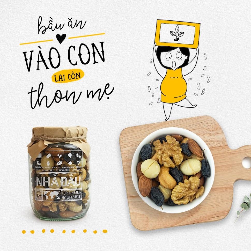 Mixnuts ăn vặt tự nhiên cho Bà Bầu ăn sáng tốt nhất