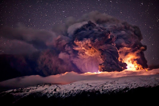 10 most stunning images of the volcano Eyjafjallajökull