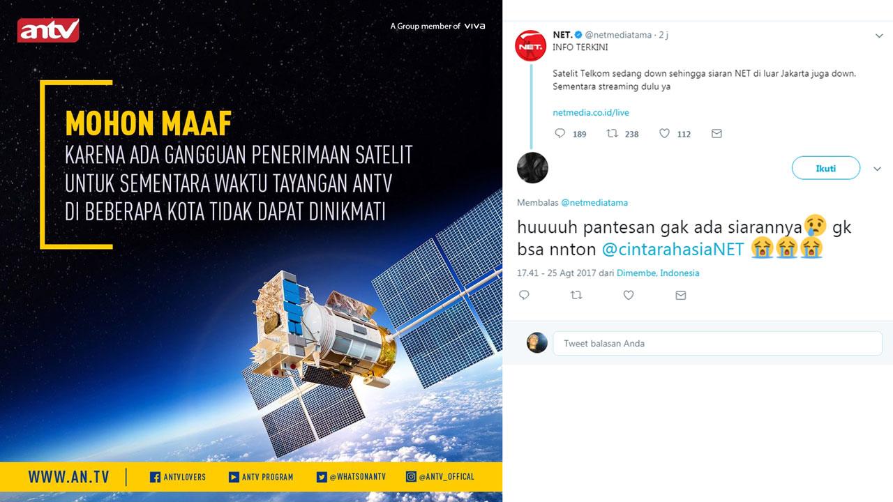 Siaran Satelit Telkom 1 Hilang Sinyal