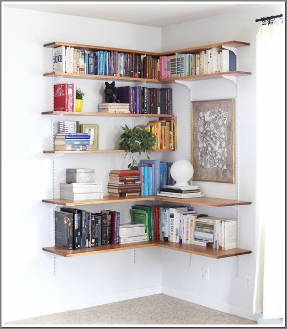 dyi shelves wall Corner