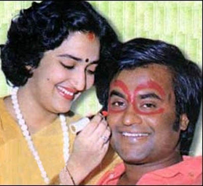 Rajini with his wife Latha