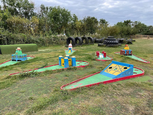Crazy Golf at Herrings Green Farm Birds Of Prey Activity Centre in Wilstead. Photo by Christopher Gottfried, September 2021