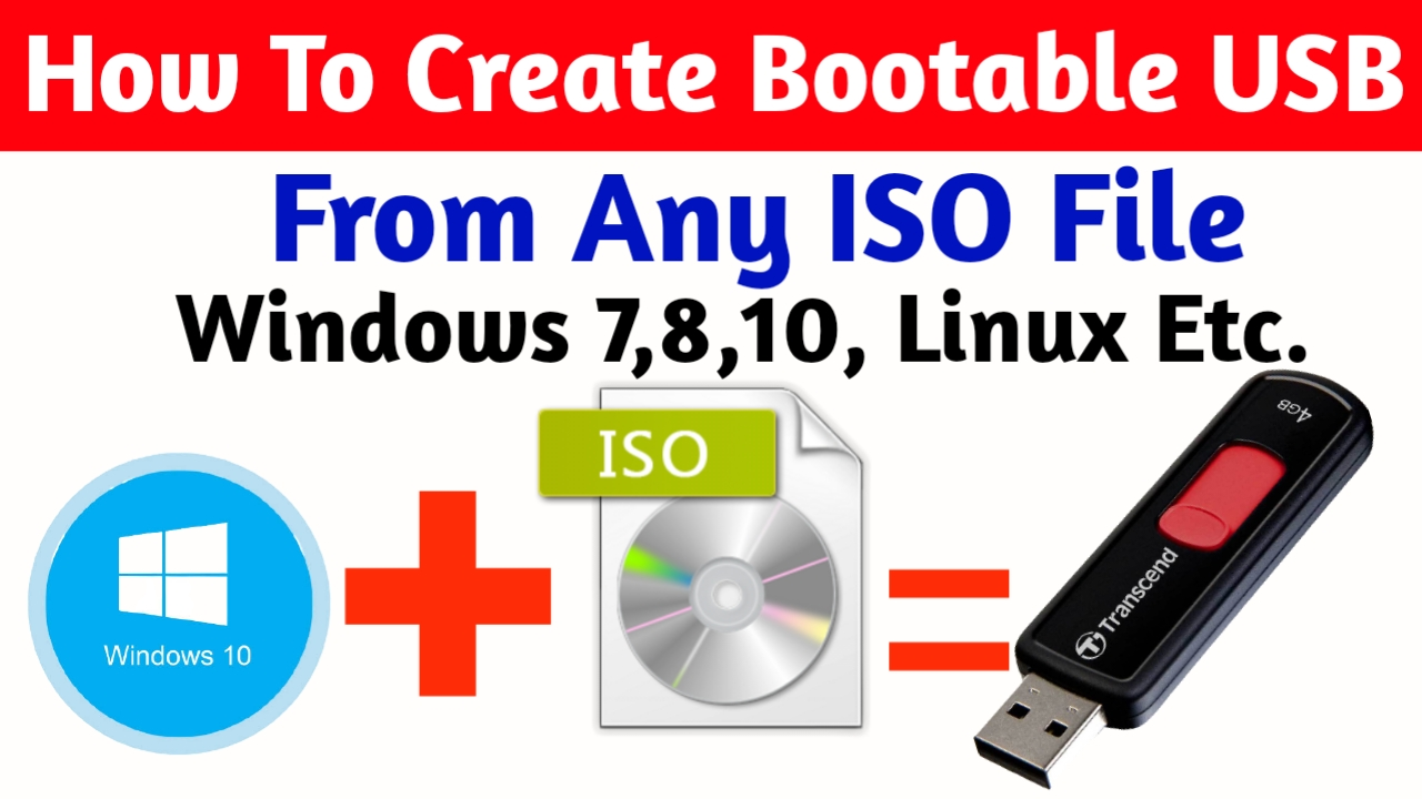How To Create Bootable USB From iso