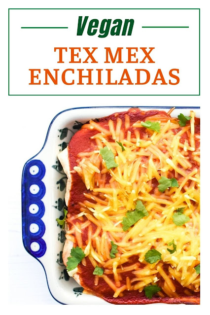 Vegan Sweet Potato & Spinach Enchiladas.  An easy Tex Mex recipe for Vegan Sweet Potato & Spinach Enchiladas with a simple but tasty sauce.