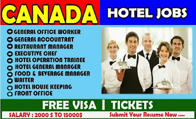 Jobs in Canada: Hotel Job Vacancy in Canada - Apply now