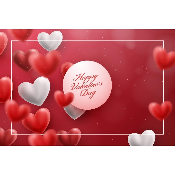 Blurs air heart with valentines day design free vector