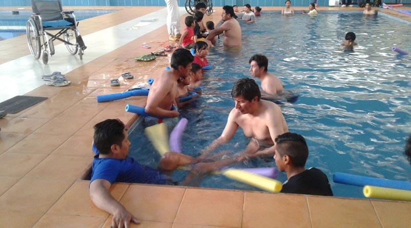 La actividad se desarrolló en la piscina Semi-Olímpica de Santa Rosa del Distrito 1