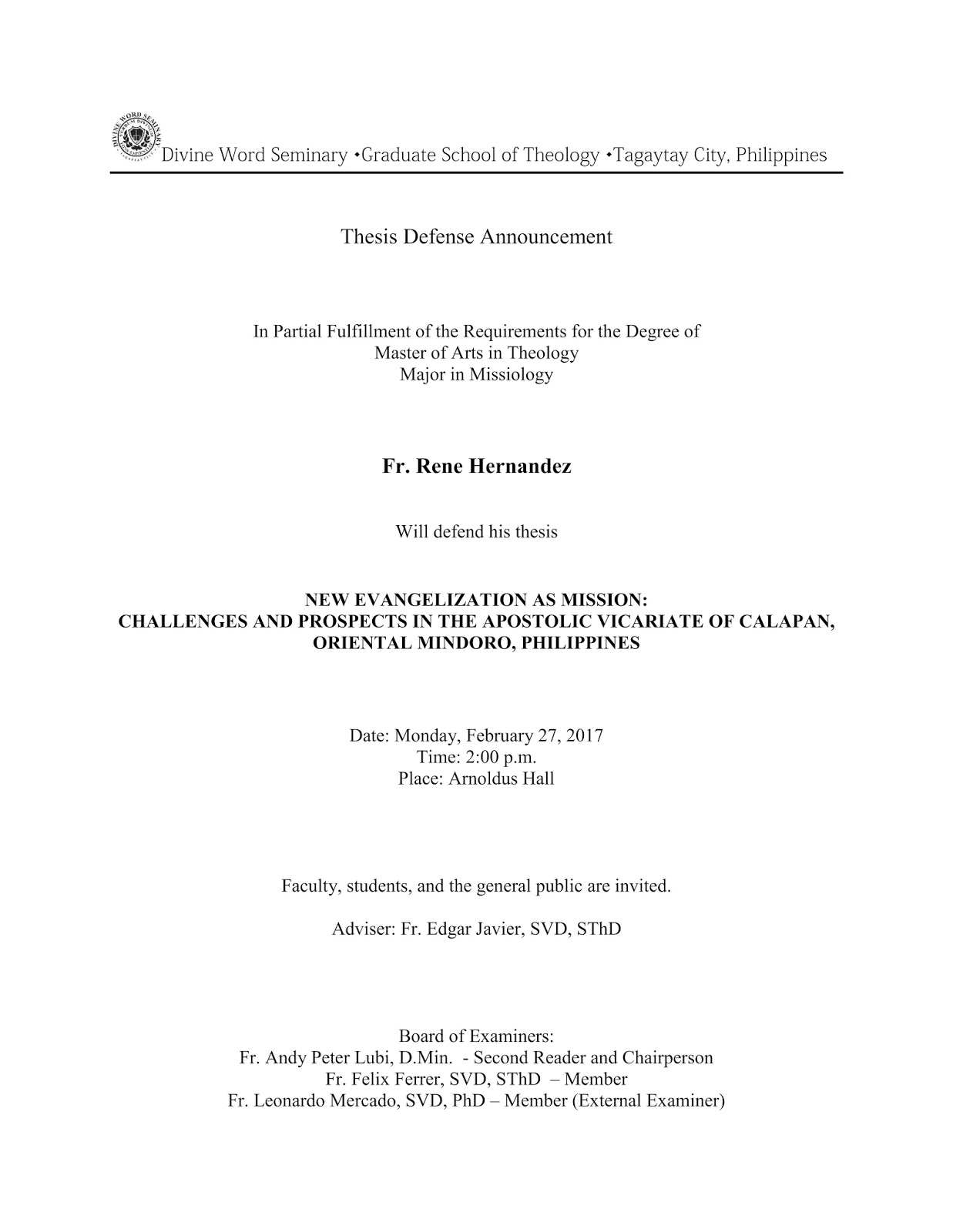 ma thesis defense