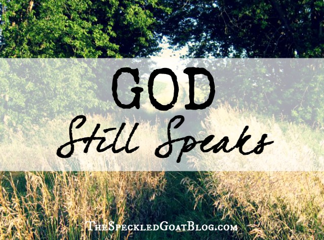 Have you ever just wanted God to give you an answer? Speak into your life? God still speaks, even today- we just have to be listening.