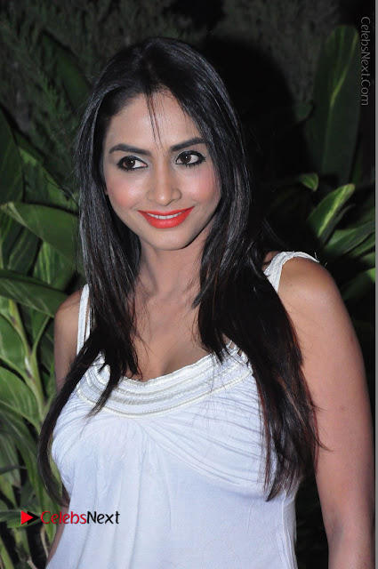 Actress Model Pooja Sri Stills in White Short Dress at F Club pre soft Launch  0001.JPG