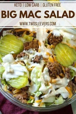 Keto Big Mac Salad Low Carb Hamburger Salad