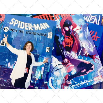 Janis Brett Elspas SpiderMan Into the SpiderVerse Media Event