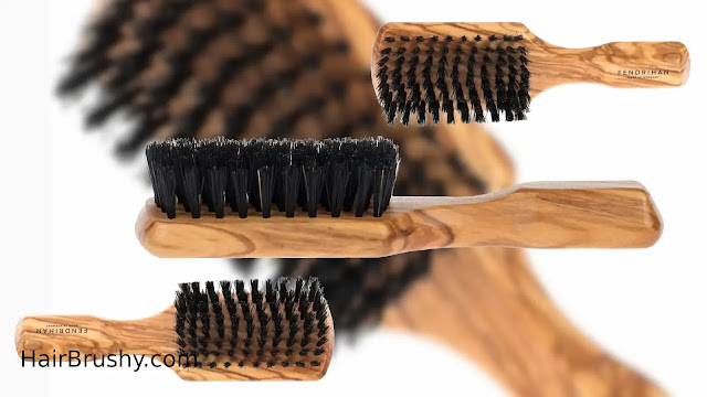 Fendrihan Men's Hairbrush Pure Boar Bristle with Real Olivewood