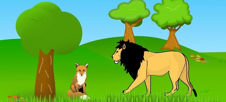 The Lion and the Jackal Panchatantra Story In Hindi | सिंह और सियार ~ मित्रभेद ~ पंचतंत्र
