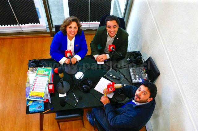 Alvaro Pillado, Ingrid Schettino y Christian Lobo