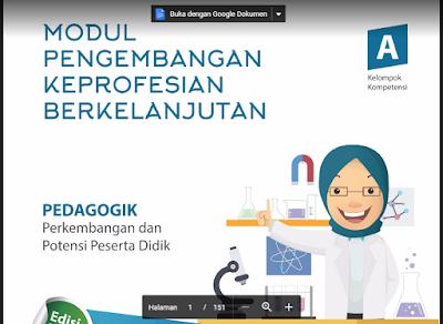 Download Modul PKB IPA SMP 2017 Kompetensi Pedagogik/ Profesional (KK A-J)