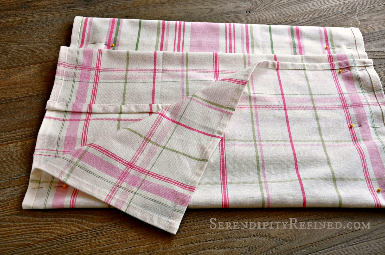 Serendipity Refined Blog: How To Make An Easy DIY Tea Towel