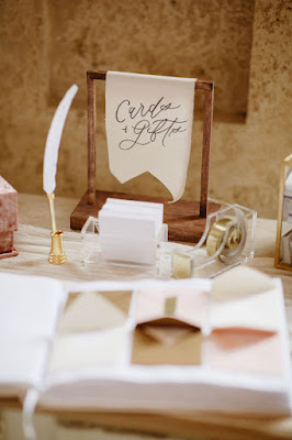 guestbook and card sign