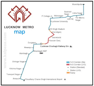 Lucknow metro all stations map download