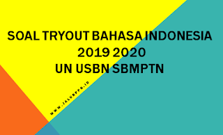 SOAL TRYOUT BAHASA INDONESIA 2019 - 2020 UN USBN SBMPTN