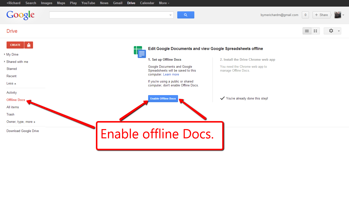 Practical Ed Tech Tip of the Week – How to Use Google Docs Offline
