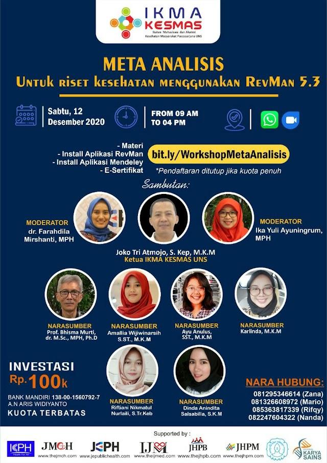 *Online Workshop: Meta-Analysis untuk Riset Kesehatan: Menggunakan Revman 5.3*