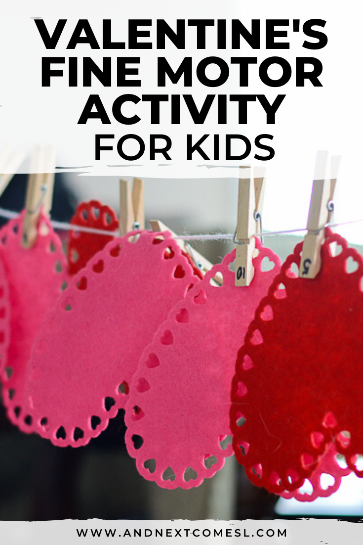 A simple Valentine's Day fine motor activity for toddlers and preschoolers
