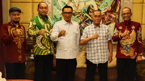 Ridwan Kamil Bertemu Jenderal Ryamizard, Sepakat Memperkuat Pancasila Generasi Milenial