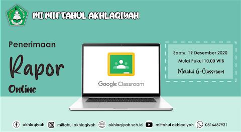 Jadwal Penerimaan Rapor Online MI Miftahul Akhlaqiyah