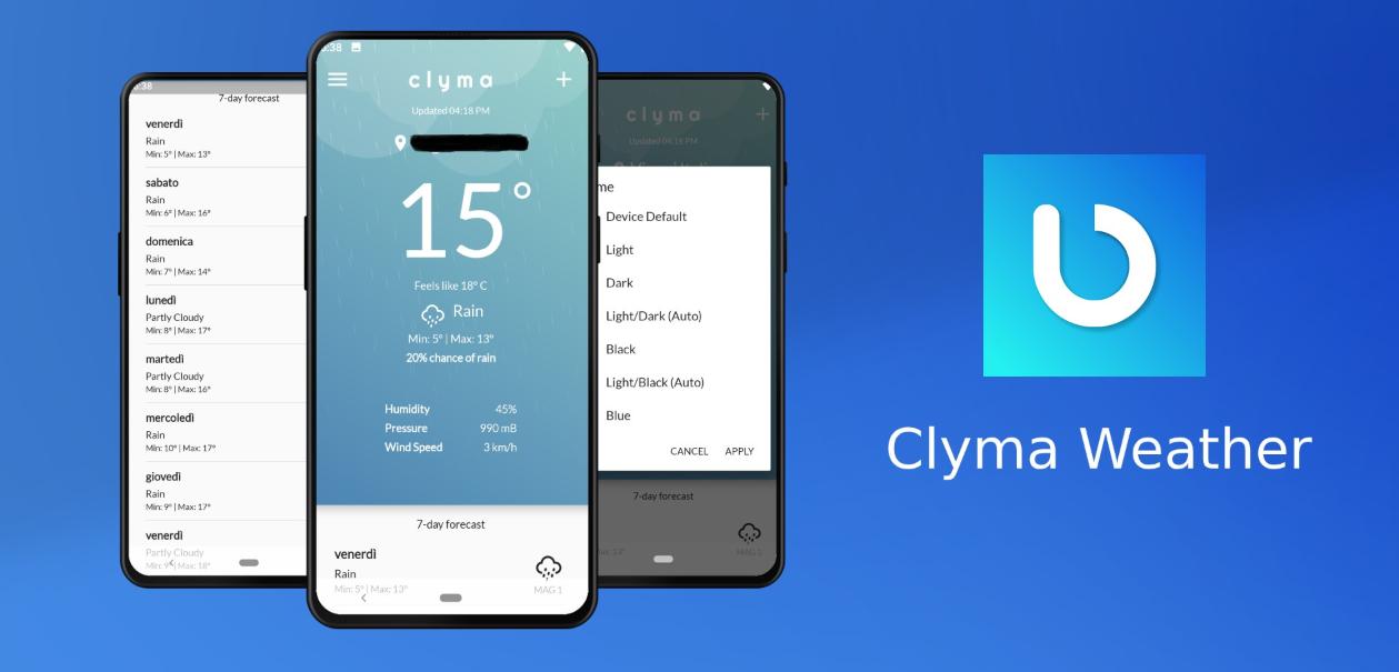 جديد التطبيقات: Clyma Weather يظهر توقعات الطقس ببساطة ووضوح