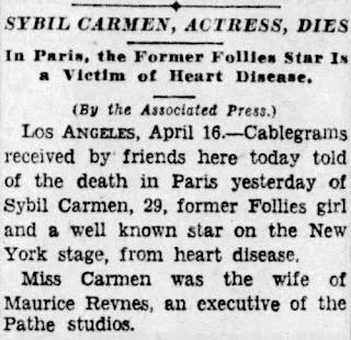 Sybil Carmen Obituary