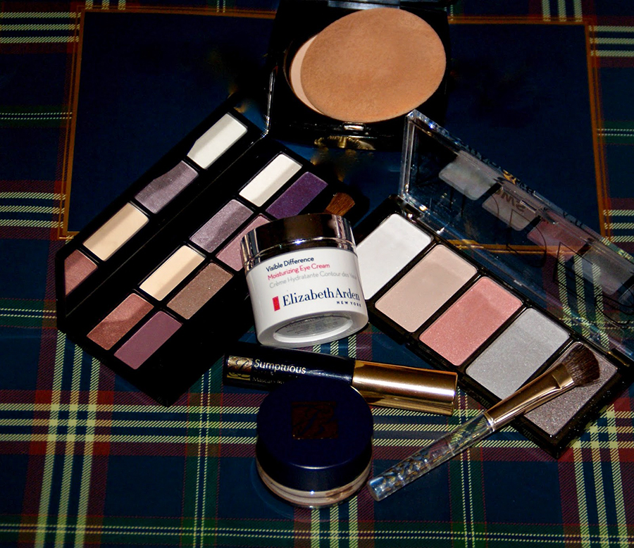 Estee Lauder Eyeshadow palette and base, Elizabeth Arden eye cream