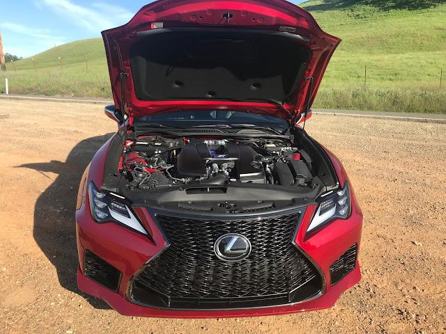 Hood up on 2020 Lexus RC-F