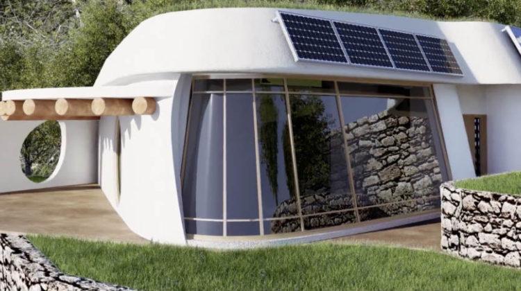 Una casa autosuficiente y cero emisiones, de materiales naturales y reciclados